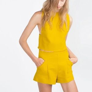 Zara shorts and crop top two piece set (co ord)